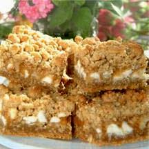 Oatmeal Caramel White Chip Bars.
