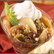 Pear, Apple and Cranberry Crisp.