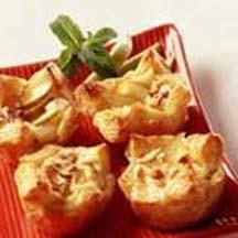 Pear Cheese Tarts with Honey and Hazelnuts.