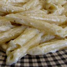 Penne in Parmesan Cream Sauce.