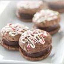 Peppermint Fudge Cookie Sandwiches