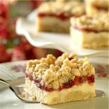 Premier Cheesecake Cranberry Bars.