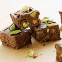 Really Yummy Dark Fudge with Pistachios.