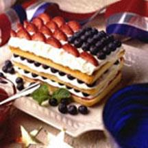Red, White and Blueberry Pound Cake.