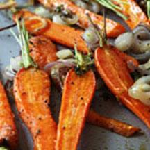 Roast Carrots with Shallots and Thyme.
