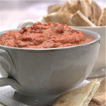 Roasted Red Pepper and White Bean Dip.