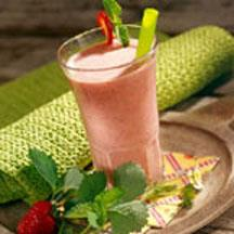 Sensational Strawberry-Mint Smoothie.