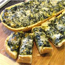 Spinach-Topped French Bread.