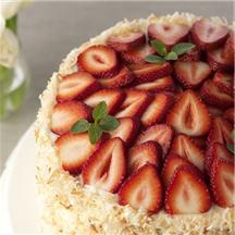 Strawberry Coconut Cake.