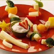String Cheese and Veggie Fruit Kabobs.