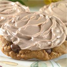 Super Easy Mocha Iced Chocolate Chip Cookies.