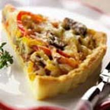 Swiss Cheese and Sausage Tart.