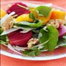 Tangy Roasted Beet and Walnut Salad.