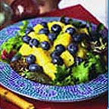 Tropical Blueberry Pineapple and Jalapeno Salad.