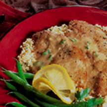 Veal Cutlets with Lemon Mustard Sauce.