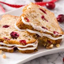 Walnutty Egg Nog Cranberry Bread.