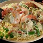 Angel Hair Pasta with Shrimp and Vegetables recipe