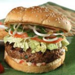 Asian Burgers with Sweet Chili Mayo Spread recipe