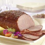Baked Ham with Sweet 'N Sour Plum Sauce recipe