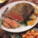 Beef Rib Roast with Yorkshire Puddings recipe