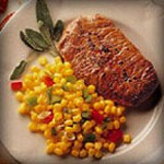 Beef Steaks with Tangy Corn Relish recipe