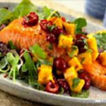 Caramelized Salmon with Cherry Salsa recipe
