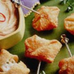 Cheesy Wontons with Sweet and Sour Dip recipe