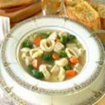 Chicken and Broccoli Soup with Cheese Tortellini recipe