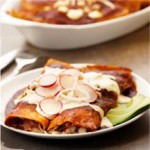 Chicken Enchiladas in Red Sauce recipe