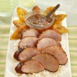 Chili Rubbed Pork Tenderloin with an Apricot Ginger Glaze recipe
