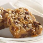 Chocolate Chip Caramel Nut Bars recipe