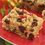 Chocolate Chip Cranberry Cheese Bars recipe