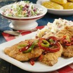Country-Fried Pork & Peppers recipe
