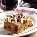 Cranberry-Pistachio Oat Bars recipe