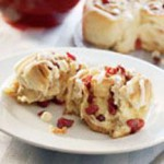 Cranberry Kissed Cinnamon Rolls recipe
