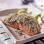 Crunchy Walnut-Crusted Salmon Fillets recipe
