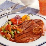 Eye-Opening Spicy Bloody Mary Ham Steaks recipe