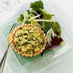 Feta and Vidalia Onion Tart with Shaved Fennel and Mixed Green Salad, Pickled Beets and Apple Vinaigrette recipe