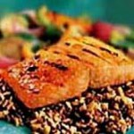 Fiery Peach-Glazed Alaska Salmon recipe