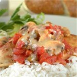 Fiesta Chicken with Tomatoes and Mushrooms recipe