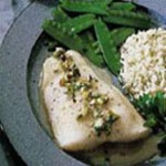 Fish Fillets with Pineapple Pistachio Sauce recipe
