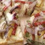 Focaccia Pizza with Caramelized Onions and Peppers recipe