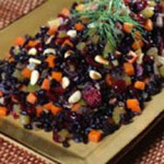Forbidden Rice with Cranberries and Pine Nuts recipe