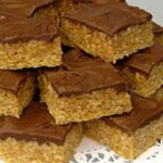 Frosted Crispy Peanut Butter Bars recipe