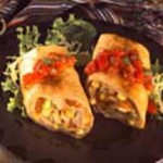 Garden-Style Chicken Chimichangas recipe