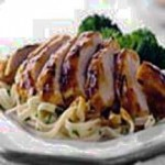 Grilled Apple Curry Chicken with Pasta recipe