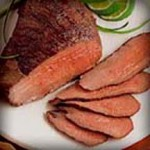 Grilled Beef Tri-Tip with Tropical Fruit Salsa recipe