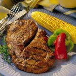 Grilled Honey-Soy Pork Steaks recipe