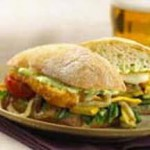 Grilled Italian-Cheese-Vegetable Sandwich recipe
