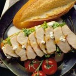 Grilled Pork with Goat Cheese Crostini recipe